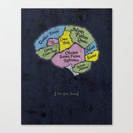 The Geek Brain Canvas Print