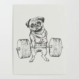 Pug Lift Poster