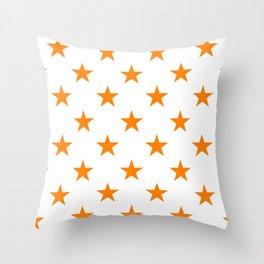 Stars (Orange/White) Throw Pillow