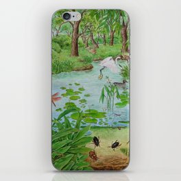 A Day of Forest (4). (the lake ecosystem) iPhone Skin
