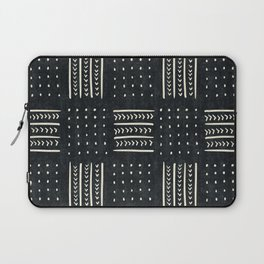 Mud cloth in black and white Laptop Sleeve