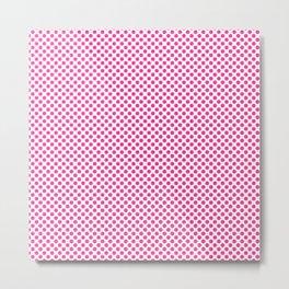 Wild Strawberry Polka Dots Metal Print