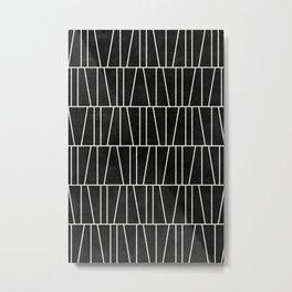 Mid-Century Modern Pattern No.5 - Black Concrete Metal Print