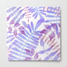Simple purple jungle scene  Metal Print