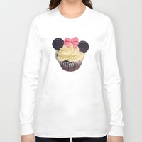 minnie mouse Long Sleeve T-shirts featuring Minnie Mouse Cupcake by Loulabelle