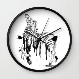 Dripping Zebra Wall Clock