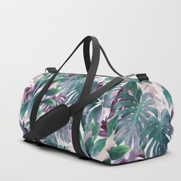 Tropical Emerald Jungle in light cool tones Duffle Bag