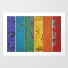 texture rainbow Art Print