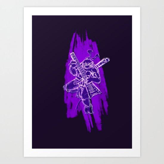 TMNT Rock: Don Art Print