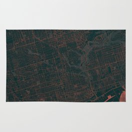 Toronto Map Red Rug