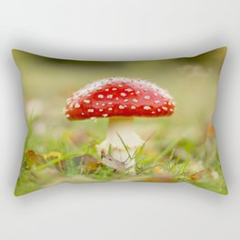 White dotted red hood Rectangular Pillow