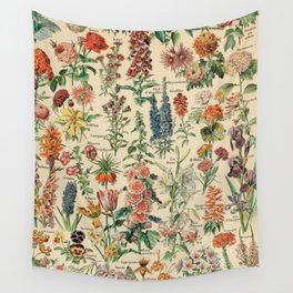 Adolphe millot 1800s fleur E Wall Tapestry