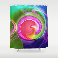 "agate Shower Curtains featuring "" Agate ""  by shiva camille"