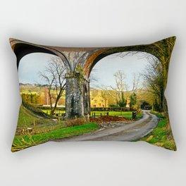 View through a viaduct. Rectangular Pillow