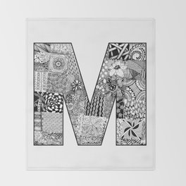 Cutout Letter M Throw Blanket