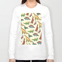 dinosaurs Long Sleeve T-shirts featuring DINOSAURS! by Sonny Ross