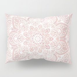 Pink Mandala, Namaste Greeting, Yoga Pillow Sham