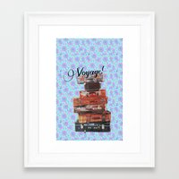 voyage Framed Art Prints featuring VOYAGE! by Ylenia Pizzetti