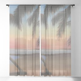 Afternoon Palms Sheer Curtain