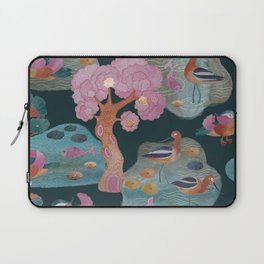Watercolor with avocet and mandarin duck 2 Laptop Sleeve