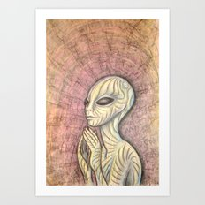 Alien Prayer Art Print