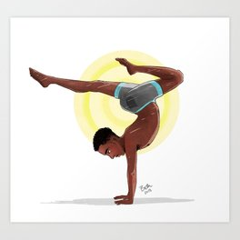 Charging Scorpion Pose Art Print