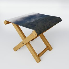 Misty Pine Trees Pacific Northwest Folding Stool