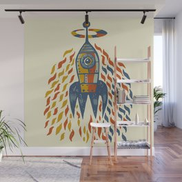 Self-firing rocket Wall Mural