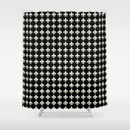 Fleur de lis ..white on black Shower Curtain