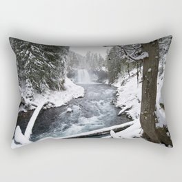 The Wild McKenzie River Waterfall - Nature Photography Rectangular Pillow