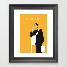 No064 MY TALKING HEADS Minimal Music poster Framed Art Print