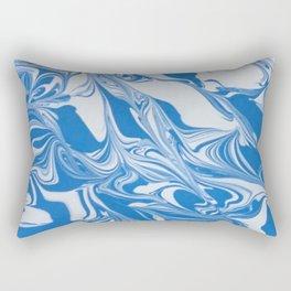 Bleed Tarheel Blue Rectangular Pillow