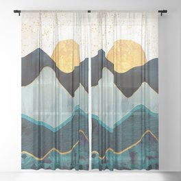 Glacial Hills Sheer Curtain