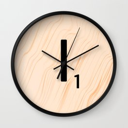 Scrabble Letter I - Large Scrabble Tiles Wall Clock