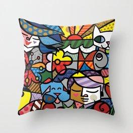 Bambam and Friends Throw Pillow