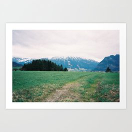 Bavarian Alps Art Print