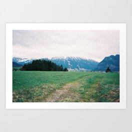 Bavarian Alps Art Print
