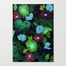 Oriental blossom (night version) Canvas Print
