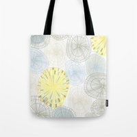 shells Tote Bags featuring Shells by Claire Brown Surface Pattern