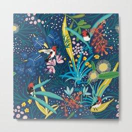 Scarlett honeyeater wild garden Metal Print