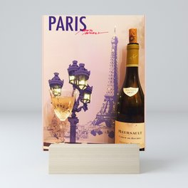 A glass of Meursault Mini Art Print