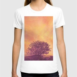 Red Violet Lone Tree and Fall Sunlight T-shirt