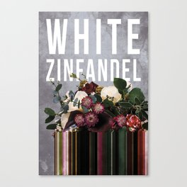 White Zinfandel in Grape Canvas Print