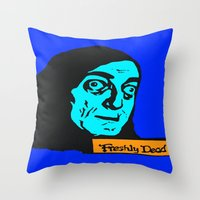 "gore Throw Pillows featuring No, it's pronounced ""Eye-gore"" 2 by Kramcox"