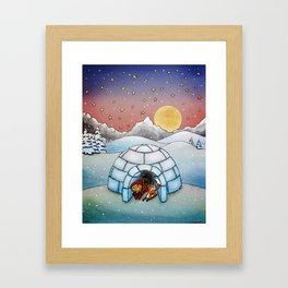 Winter Home Framed Art Print