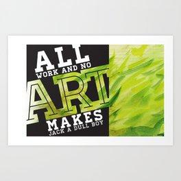 Art Grows Art Print