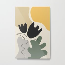 Organic Shapes Flower Still Life Metal Print