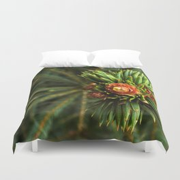 Spruce from top Duvet Cover