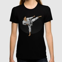 Karate Fighter Do A Sidekick Kick T-shirt