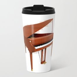 Grand Piano with Wood Finish Travel Mug